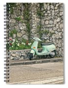 Retro Italian Scooter Spiral Notebook