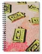 Retro Music Tapes Spiral Notebook
