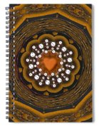 Retro Peace With Love And A Heart Of Gold Spiral Notebook