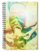 Retro Pin-up Pool Party Spiral Notebook