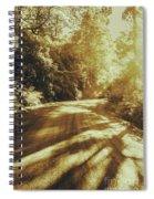 Retro Rainforest Road Spiral Notebook