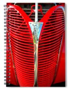 Retro Red Grille Spiral Notebook