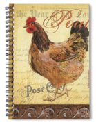 Retro Rooster 1 Spiral Notebook