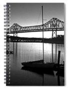 Retro San Francisco Oakland Bay Bridge Spiral Notebook