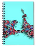 Retro Scooter 3 Spiral Notebook