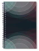 Retro Semi Circle Background Horizontal Spiral Notebook