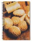 Retro Shortbread Biscuits In Old Kitchen Spiral Notebook