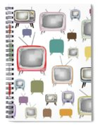 Retro T.v. Spiral Notebook