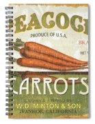 Retro Veggie Label 2 Spiral Notebook