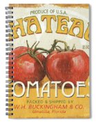 Retro Veggie Labels 4 Spiral Notebook