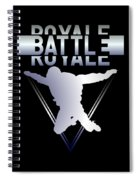 Retro Vintage 90s Chrome Skydiver Battle Royale Gamer T Shirt Spiral Notebook