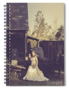 Retro Wedding Couple At Australian Farm Cottage Spiral Notebook