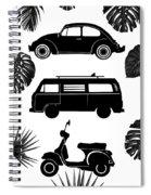 Retro Wheels Spiral Notebook