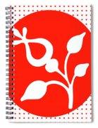 Retro White Flower Spiral Notebook