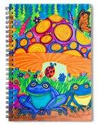 Return To Happy Frog Meadow Spiral Notebook