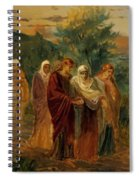Returning From The Burial Of Christ Spiral Notebook