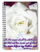 Revelation 3 5 Spiral Notebook