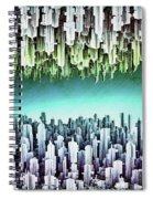 Reversible Futuristic Megalopolis City Spiral Notebook