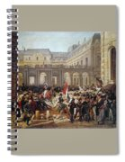 Revolution Of 1830 Departure Of King Louis-philippe For The Paris Townhall Horace Vernet Spiral Notebook