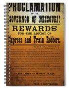 Reward For Frank And Jesse James Spiral Notebook