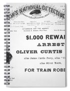 Reward Poster For The Arrest Of Oliver Perry Issued  Spiral Notebook