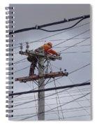 Rewiring A Power Pole Spiral Notebook