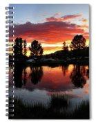 Reymann Lake Sunset - Yosemite Spiral Notebook