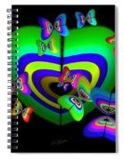 Rhapsody In Green Spiral Notebook