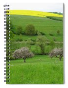 Rhineland-palatinate Summer Meadow With Cherry Trees Spiral Notebook