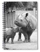 Rhino Mom And Baby Spiral Notebook