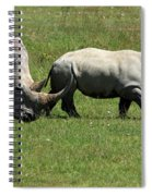 Rhino Mother And Calf - Kenya Spiral Notebook
