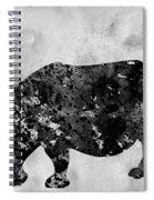 Rhinoceros-black Spiral Notebook