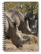 Rhinos,  Zambia Spiral Notebook