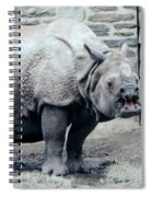 Rhinoceros And Baby Spiral Notebook