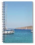Rhodes Cup Regatta At Tilos Spiral Notebook