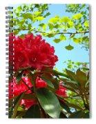 Rhodies Art Prints Red Rhododendron Floral Garden Landscape Baslee Spiral Notebook