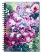 Rhododendron And Lily Of The Valley Spiral Notebook