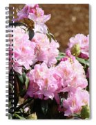 Rhododendron Flower Garden Art Prints Canvas Pink Rhodies Baslee Troutman Spiral Notebook