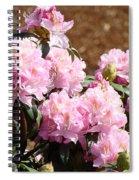 Rhododendron Garden Art Print Pink Rhodies Flowers Baslee Troutman Spiral Notebook