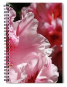 Rhododendrons Art Prints Floral Pink Rhodies Canvas Baslee Troutman Spiral Notebook