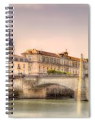 Bridge Over The Rhone River, France Spiral Notebook