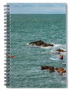 Rhoscolyn Rock Panorama Spiral Notebook