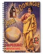 Rhum - Bottle - Earth - Map - Poster - Vintage - Wall Art - Art Print  - Girl  Spiral Notebook