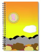 Ribbon Over Mountains Spiral Notebook