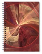 Ribbons Of Pink Spiral Notebook