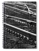 Ribbons Of Steel Spiral Notebook