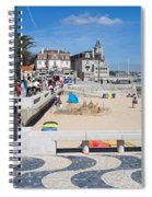 Ribeira Beach In Cascais Portugal Spiral Notebook