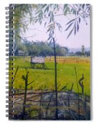 Rice Fields At Bumi Agung Lampung Sumatra Indonesia 2008  Spiral Notebook