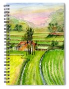 Ricefield Panorama Spiral Notebook