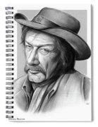 Richard Boone 3 Spiral Notebook